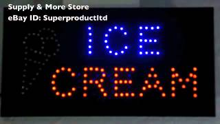 Ice Cream LED Open Sign