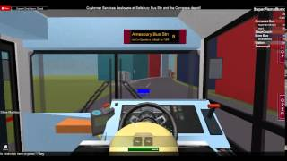 Roblox Salisbury And District Bus Simulator - Route 8 to Amesbury Bus Station (Not full route)