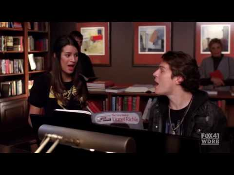 [Glee] (Jesse St James)Jonathan Groff & (Rachel Berry)Lea Michele - Hello