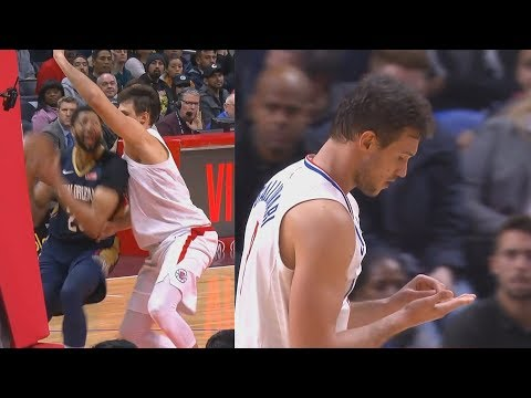 Anthony Davis Knocks Out Danilo Gallinaris Teeth Who Then Stays In The Game! Pelicans vs Clippers