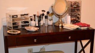 My Updated Vanity & Makeup Storage Collection ~ New Desk
