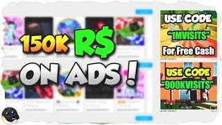 SPENDING 150K R$ ON ADS (700 Players!) | Roblox