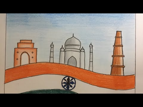 History and heritage drawing/cultural diversity of India 🇮🇳