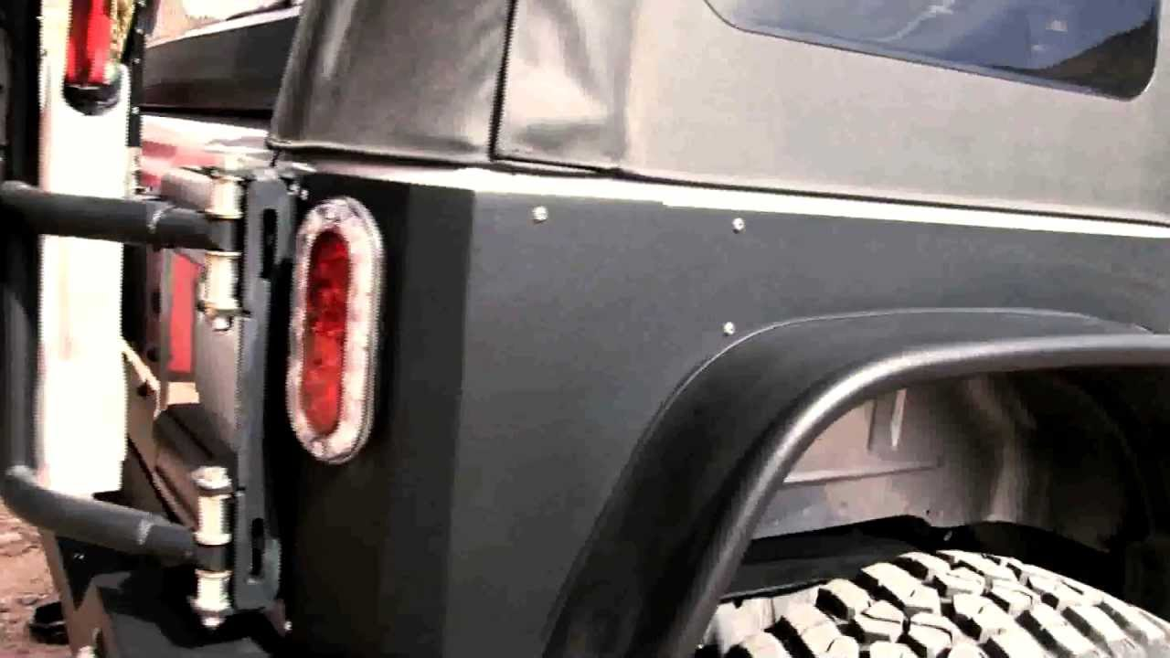 Jeep Wrangler Body Armor >> OR-Fab Rear Quarter Body Armor Video - YouTube