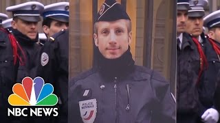 Slain French Police Officer's Life Partner Gives Moving Eulogy | NBC News