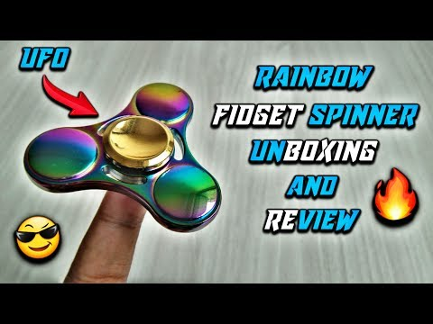 Insane UFO Rainbow Fidget Spinner Unboxing and Review