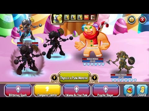 Monster Legends - 72h Challenge - Super Thyra level 1-130 combat review