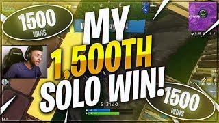 TSM Myth - I GOT MY 1500th SOLO WIN!!!   (Fortnite BR Full Match)
