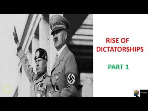 Rise of Dictatorships - ICSE Class 10th History(Part 1)