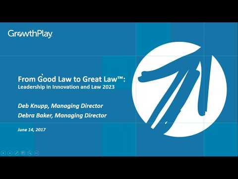 From Good Law to Great Law™: Leadership in Innovation and Law 2023