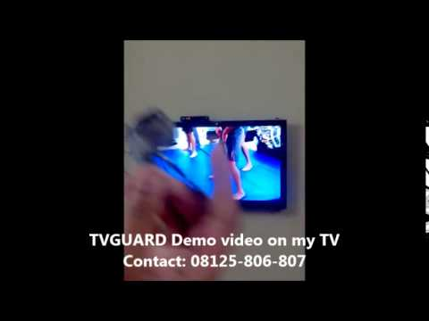 Screen Protector - Live Demo On My LED TV (after Installing TVGUARD) - Non-breakable
