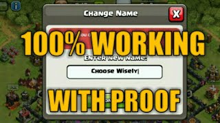 How to change your name second time in clash of clans || change name second time in clash of clans
