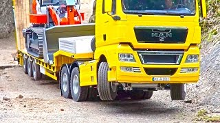Heavy LOAD on Goldhofer! BIG RC Truck Action! Hook-Lifter! Volvo! MAN! Scania! MB Arocs!