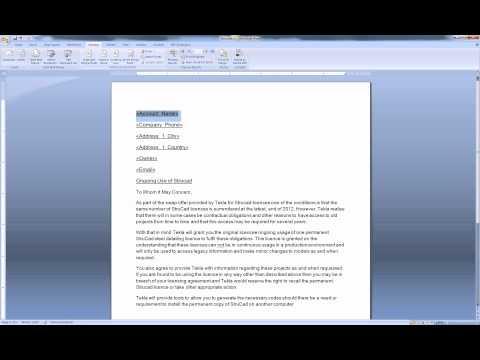 Mail Merge To PDF