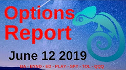 Options Report - June 12, 2019 | Market Chameleon BA - BYND - ED - PLAY - SPY - TOL - QQQ
