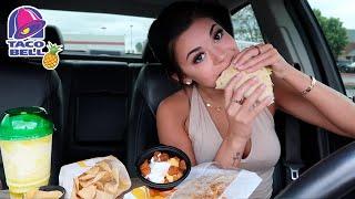 Taco Bell Mukbang! NEW Pineapple Freeze | Q&A