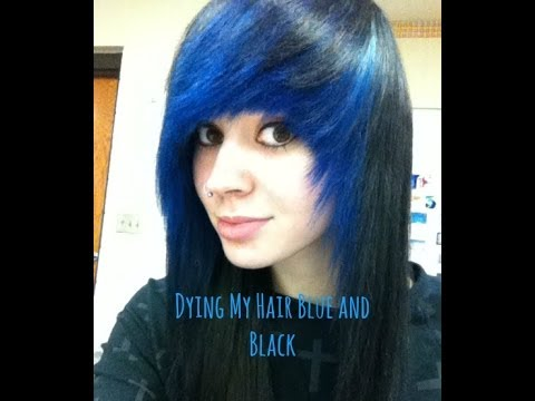 how i dyed my hair blue and black youtube