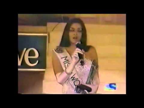 Aishwarya on Miss India 2000