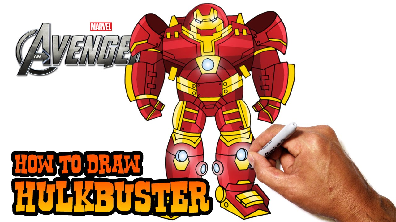 How To Draw Hulkbuster The Avengers Youtube