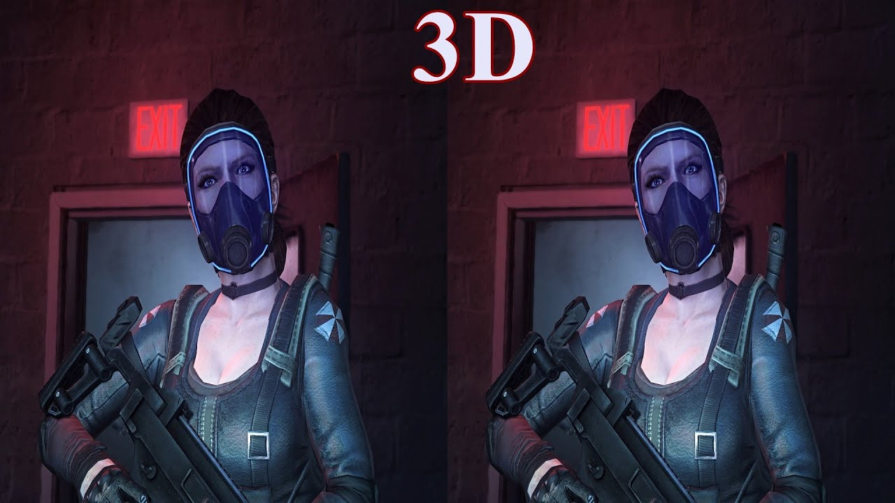 Resident Evil  ORC 3D video 1 SBS VR box google cardboard