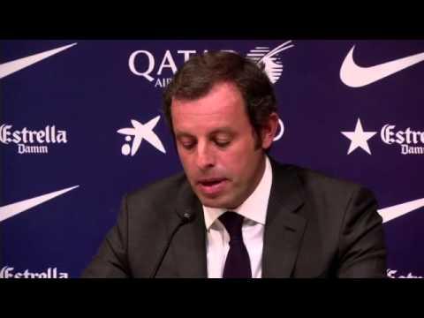 Sandro Rosell resigns as Barcelona president -- video