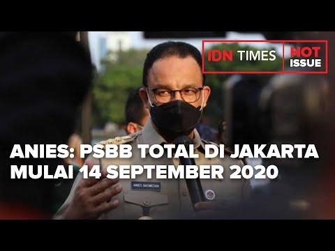 Anies Tarik Rem Darurat Psbb Total Mulai 14 September 2020 Youtube
