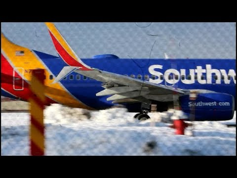 Southwest 737-79P w/Split scimitar winglets CLOSE TAXI and sunny departure from albany