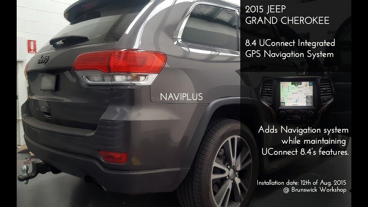 JEEP GRAND CHEROKEE UConnect 8.4 Retrofit GPS SAT Navigation ...