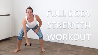 20 Minute Full Body Strength Workout – Toning Exercises with Dumbbells