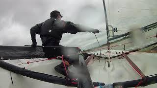 BLAZE SAILING | Windy Gybing Practice