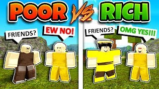 POOR VS RICH Roblox Social Experiment (Booga Booga)