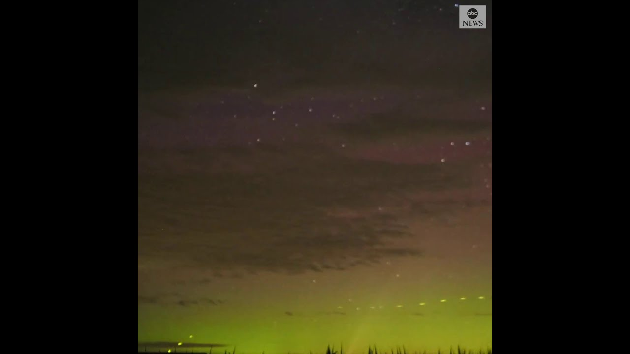 Timelapse shows illuminated night sky as Comet Neowise travels above Minnesota | ABC News - ABC News