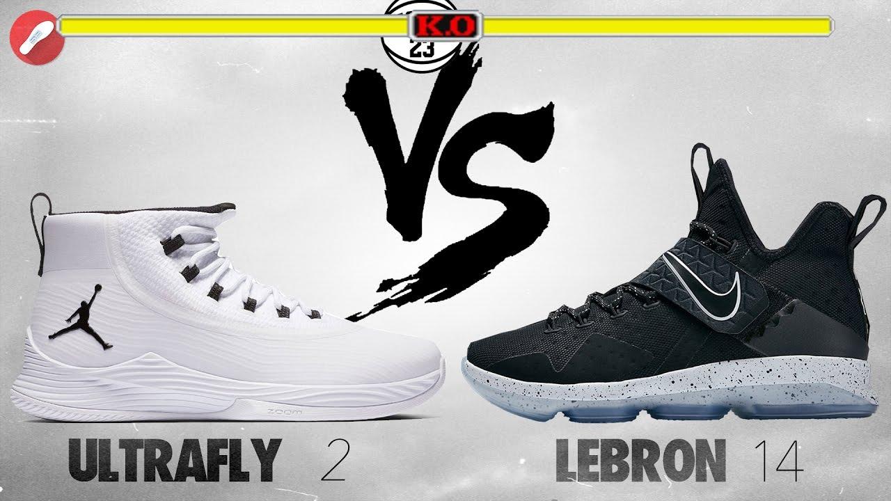 Jordan Ultrafly 2 vs Nike Lebron 14!