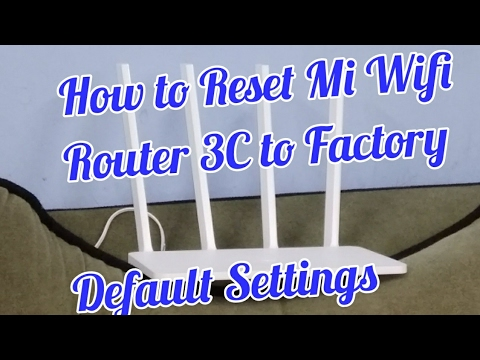 How to Reset Mi Router 3C to Factory Settings | Hindi