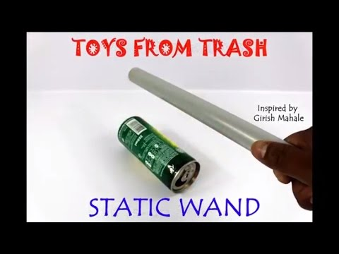 Static wand hindi fun with static electricity youtube for Static wand