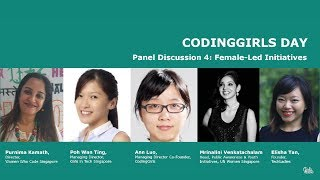 Panel: Together we can make a change - female LED initiatives - CodingGirls Day 2017