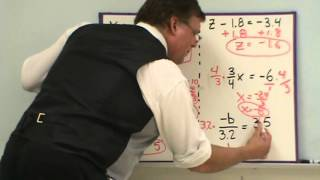 Solving One Step Equations with Rational Numbers