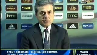 Fenerbahçe 1 0 Benfica   Aykut Kocaman Basın Toplantısı   UEFA Avrupa Ligi Yarı Final