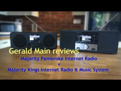 Comparison of Majority's Pembroke & Kings Internet radios