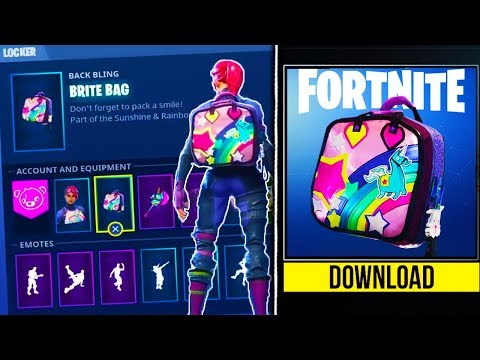 how to unlock new brite bag back bling in fortnite fortnite battle royale brite bag unlocked brite bag gameplay https youtu be nzorkzoalww - fortnite t bag
