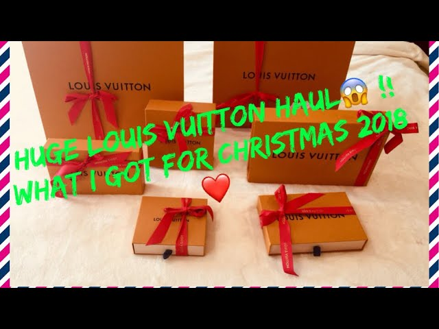 Huge Luxury unboxing ???? !! Louis Vuitton 7 pieces unboxing!! What I got for Christmas 2018 ?? !!