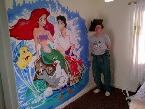 Little Mermaid Mural By Drews Wonder Walls   YouTube Part 20