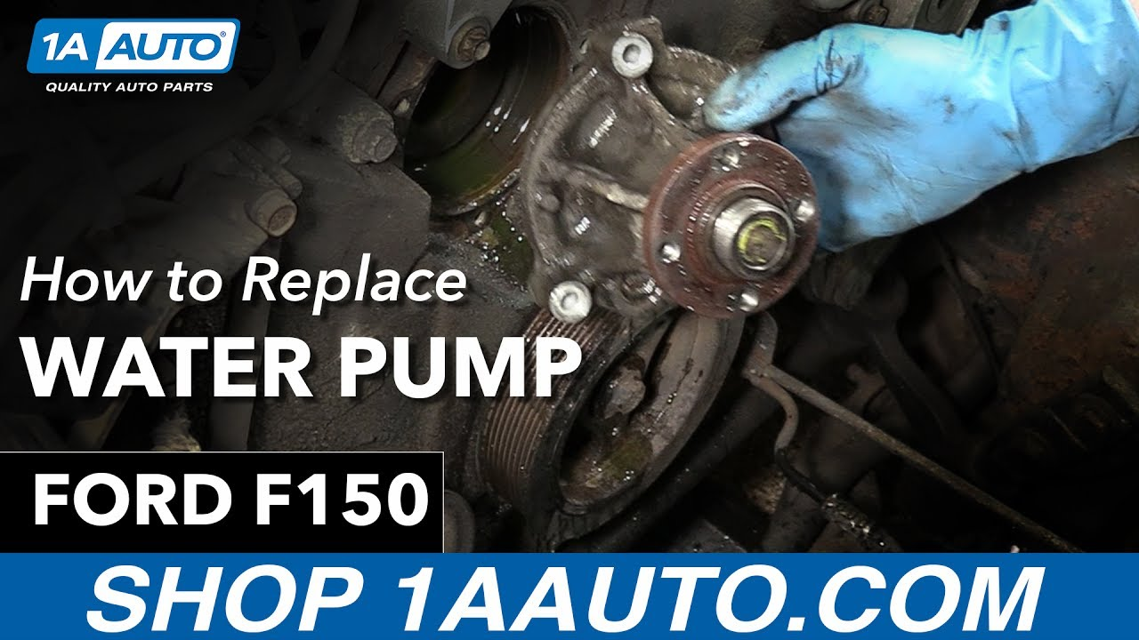 How To Replace Water Pump 97 04 Ford F150 Youtube 2010 F 150 Fuel Filter Wrench
