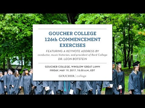 Goucher College Commencement 2017