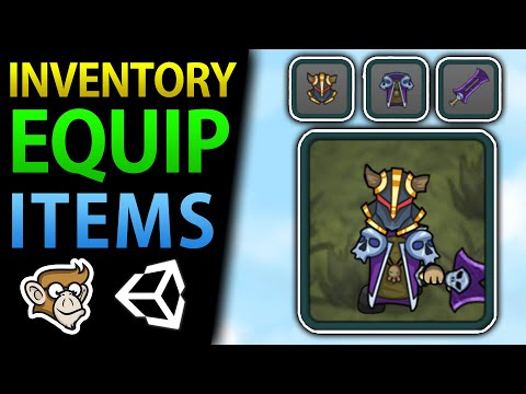 How To Equip Weapons And Items In Unity (Drag Drop, Inventory)