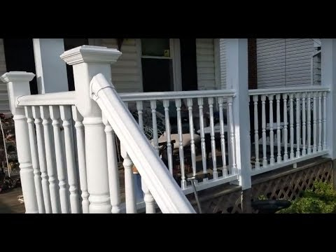 Install Vinyl Railing on Patio and Concrete Stairs - Do it yourself