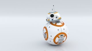 Blender Tutorial - Creating BB8 (Texturing) P2