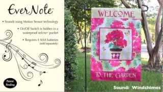 Evernote™ Garden Flag - 14EN2960 Geranium Garden Welcome Thumbnail