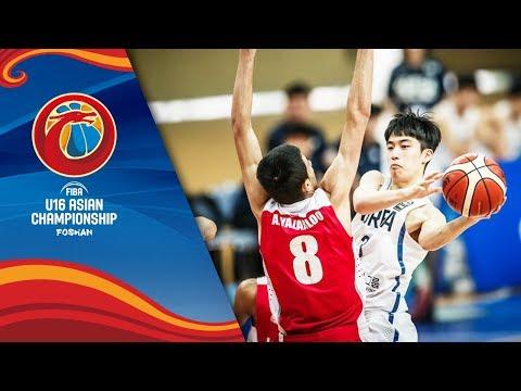 Korea v Iran - Full Game - Class 5-8 - FIBA U16 Asian Championship