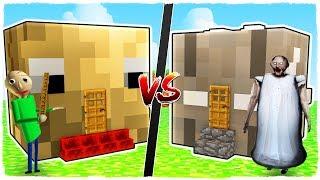 Casa de BALDI vs casa de GRANNY - MINECRAFT